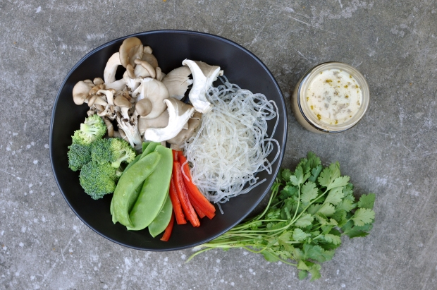 Healing Miso Mushrooms with kelp noodles 1